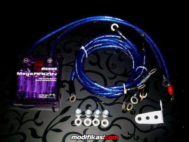 Voltage Stabilizer 21.000uF + 5 Ground Cable Set Complete Rp. 315.000