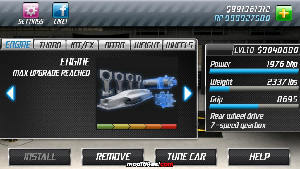 Thread: android game drag racing, cara nambahin uang dan rp tanpa root