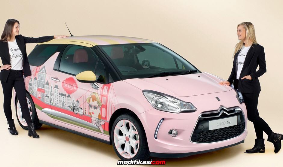 Modifikasi Mobil Citroen Warna Pink Untuk Wanita