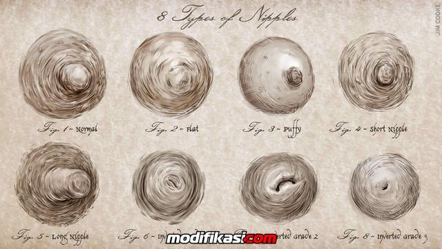 Inilah Bentuk-bentuk Puting Payudara Wanita Yang Normal