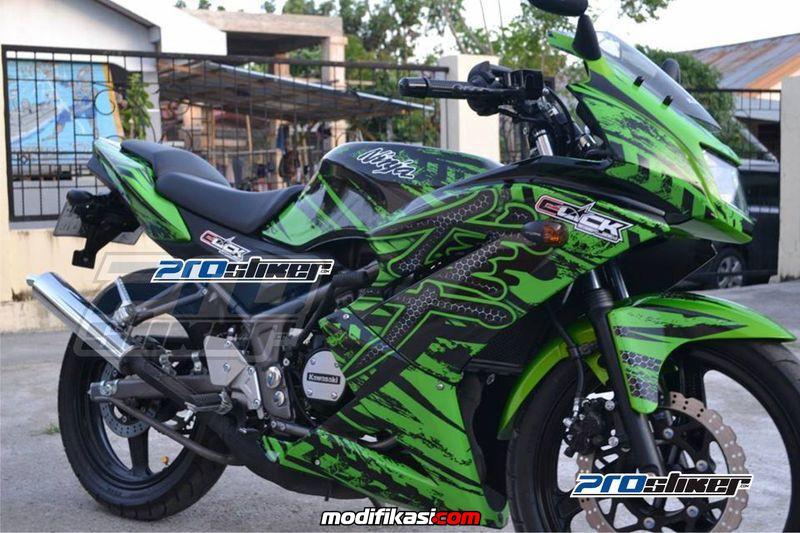 Baru Modifikasi Ninja Rr Striping Ninja 150 Rr New Full Body Motif
