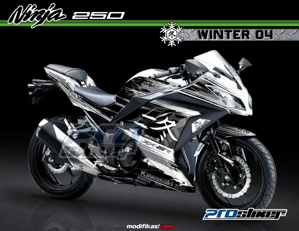 Decal modifikasi ninja 250 fi motif desain huruf kanji jepang racing wsbk winter test 2015 logo winter