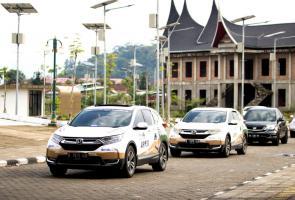 Tempuh 1.400km, Jelajah Nusantara Honda Cr-V Turbo Tiba Di Padang