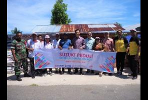 Suzuki Berikan Bantuan Kepada 3 Desa Terkena Dampak Gempa Maluku