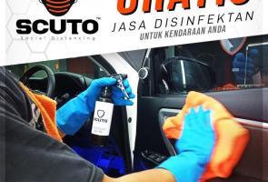 Peduli Kebersihan Mobil, Scuto Indonesia Beri Disinfektan Gratis