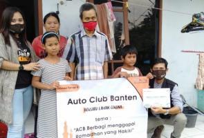 Hasil Jual Kaos Digunakan Auto Club Banten Untuk Baksos Jilid Kedua