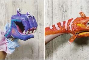 Seniman Tokyo Melukis Tangan Dan Ciptakan Monster Berbagai Bentuk
