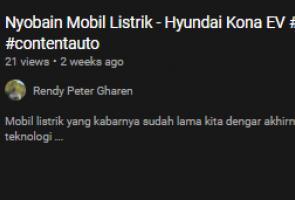 Pertama Kali Coba Mobil Listrik (Hyundai Kona)