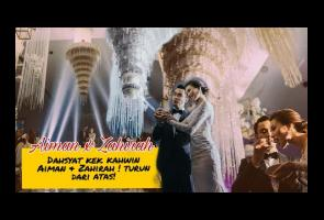 Video: Kue Pernikahan Pasangan Selebriti Malaysia Ini Jadi Viral