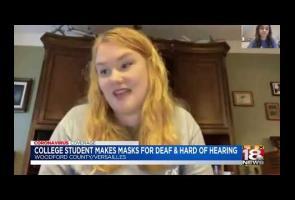 Video: Mahasiswi Ini Buat Masker Transparan Untuk Tuna Rungu