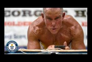 Pria 62 Tahun Catat Rekor Dunia Dengan Lakukan Plank Selama 8 Jam
