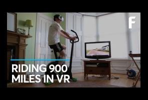 Pria Ini Gabungkan Sepeda Statis Dengan Teknologi Virtual Reality