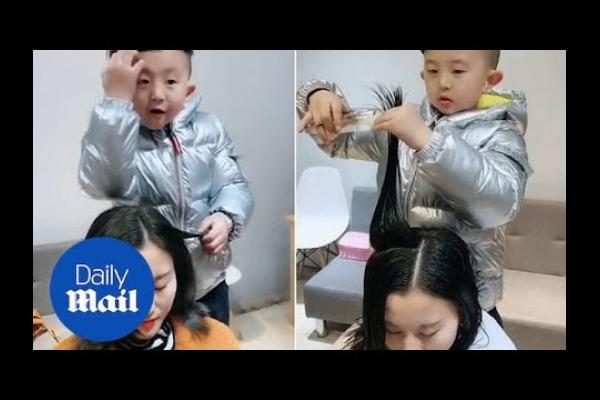 Video: Masih Usia 6 Tahun, Bocah China Ini Jadi Hairstylist