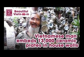 Takut Koleksinya Dijual, Pria Vietnam Ini Tempel Porselen Didinding