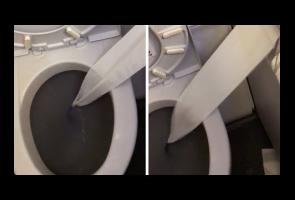 Hilangkan Kebosanan Di Pesawat, Pria Ini Masukan Tisu Ke Kloset