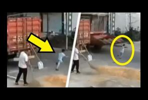 Bocah China Ini Selamat Setelah Ditabrak Mesin Pemanen
