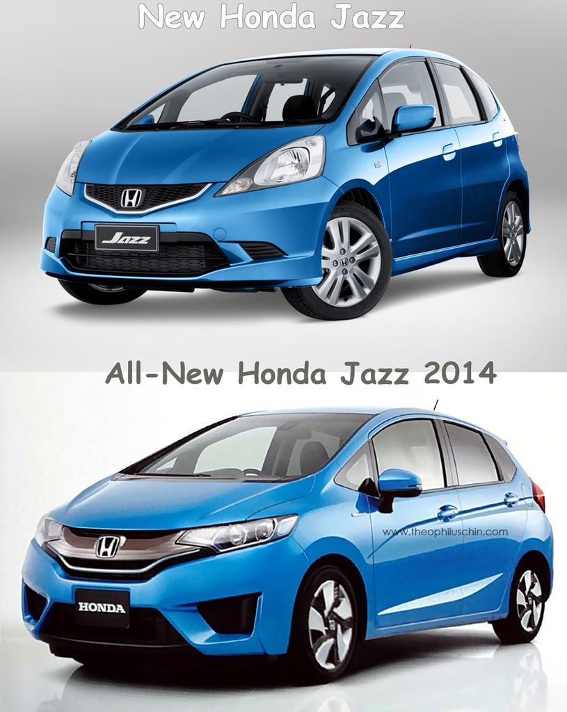 All-new Honda Jazz 2014 Facelift VS Toyota Yaris 2014 Full ...