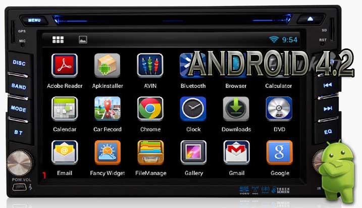 Baru Android 4 2 Head Unit Universal 2DIN - Wifi - Modem