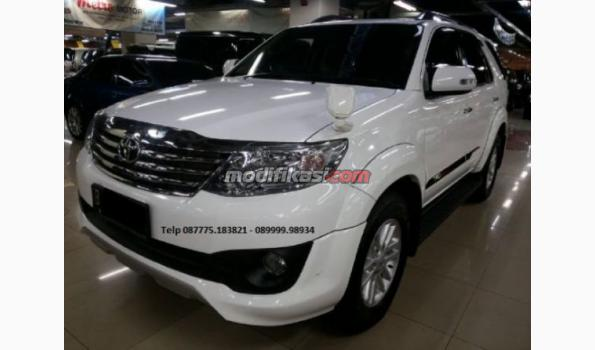 2012 Toyota Fortuner Trd Diesel Putih Manual