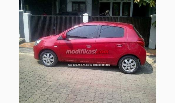 2012 Mitsubishi Mirage Matic Merah Metalik