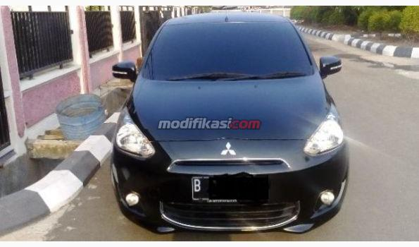 2012 Mitsubishi Mirage Black Km Rendah