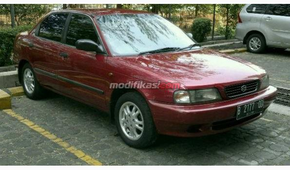 1997 Suzuki Baleno Merah Maroon Mantap