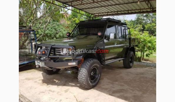 1990 Toyota Land Cruiser Bundera Double Cabin Green Army 1